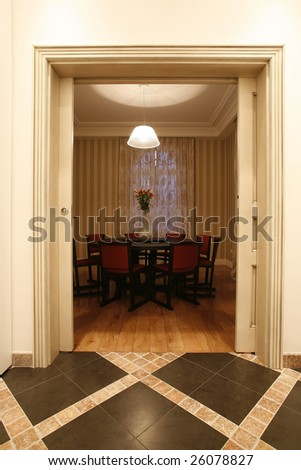 view to a dinning room