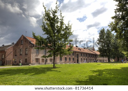 View to Akershus fortress in Oslo, Norway in HDR. - stock photo