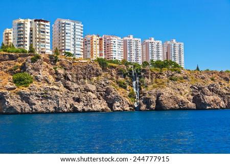 View to Antalya Turkey - travel background - stock photo