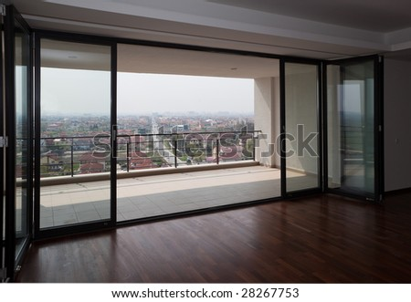 View to balcony - stock photo