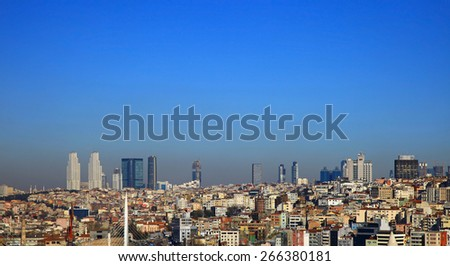 View to Beyoglu, Istanbul. Turkey. - stock photo