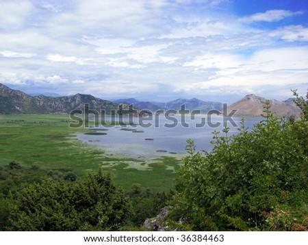 view to monte negro nature - stock photo