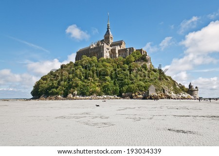 View to Mount St Michel in Normandy, France - stock photo