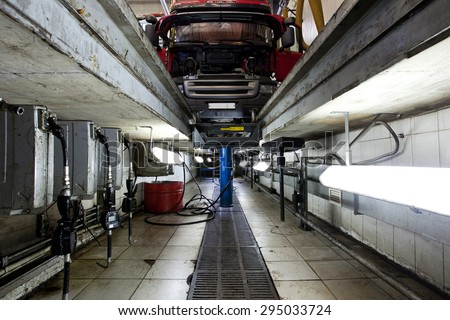 View Repair Shop Inspection Pit Stock Photo Royalty Free