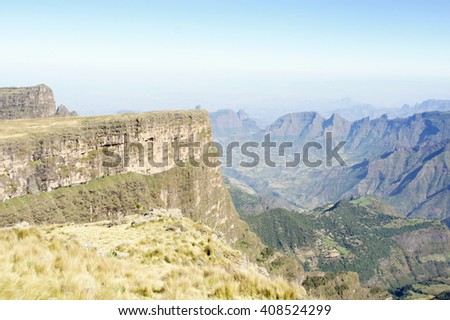 View to Simien mountains, Ethiopia