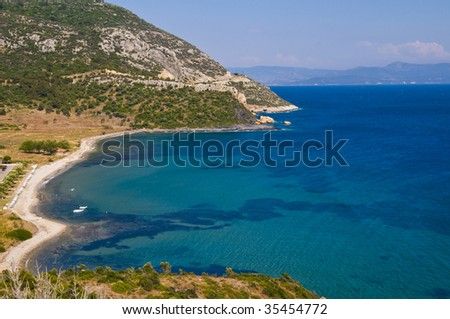 View to the Aegean Sea in Turkey
