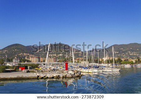 View to the La Spezia, Italy.