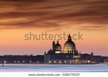 View to the Saint Mary of Health in venice, italy