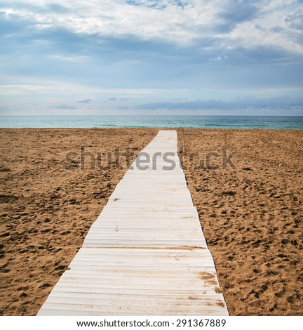 View to the San Sebastian or Donostia coast in low tide. - stock photo