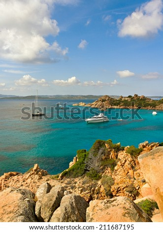 View to the sea with cliff. - stock photo