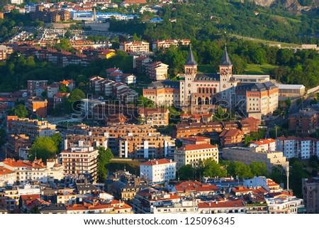 View to the seminary of San Sebastian, Spain - stock photo