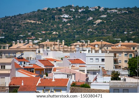 View to the town of Loule, Portugal. - stock photo