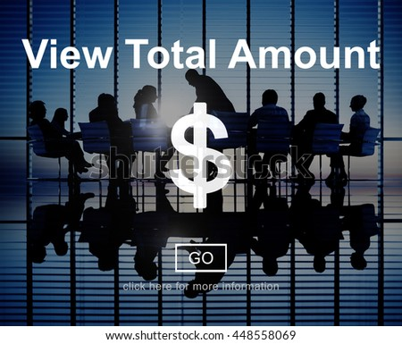 View Total Amount Accounting Payment Tax Concept - stock photo