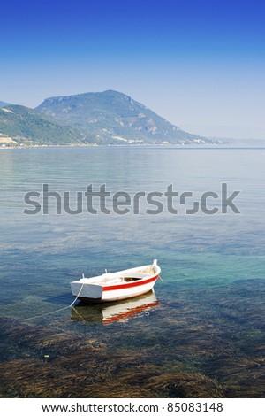View towards Moraitika, Corfu, Greece - stock photo