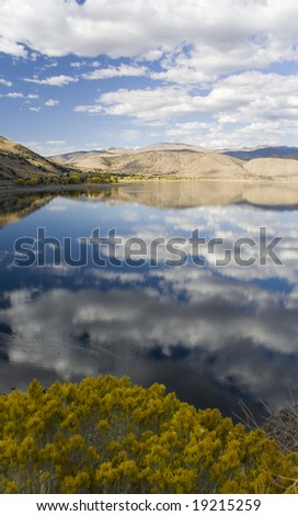 View towards the north from Topaz Lake, on the borders on California & Nevada.