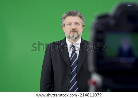 Viewfinder on a Camera - stock photo