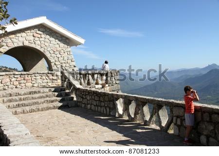 Viewpoint,Cazorla and Segura mountain range,Jaen,Andalusia,Spain - stock photo