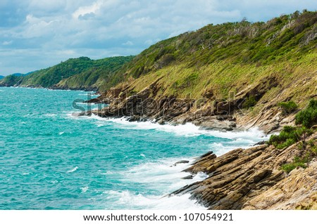 viewpoint koh samet island, Thailand. - stock photo