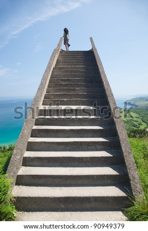 viewpoint near to Llanes village in Asturias Spain - stock photo