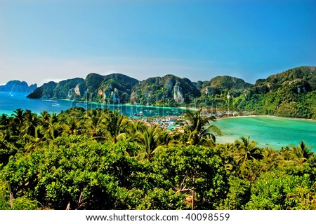 Viewpoint on the island of Phi Phi, Thailand