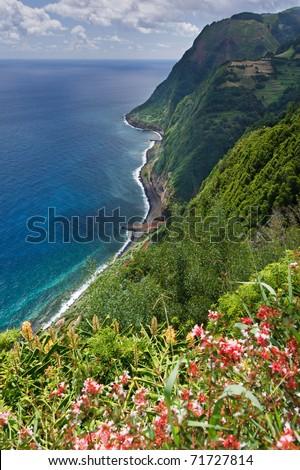 Viewpoint Ponta da Madrugada in Sao Miguel Azores island - stock photo