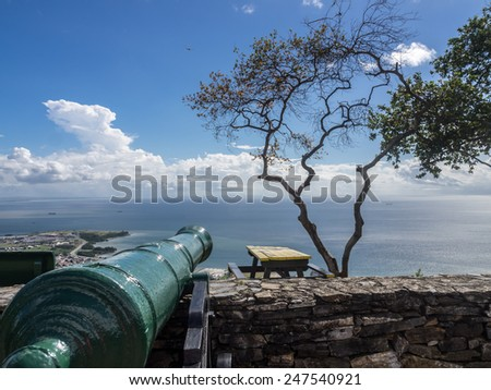 Views around Fort George down to Port of Spain the Caribbean Island of Trinidad - stock photo