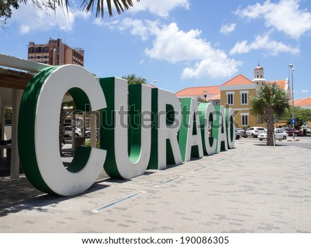 Views around Punda old City  Willemstad Curacao Caribbean - stock photo