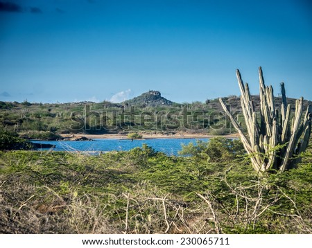 Views around St Joris on Curacao a tropical island in the Caribbean - stock photo