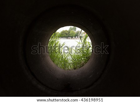 views at the end tunnel. - stock photo