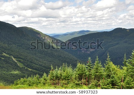 Views from Mt. Mansfield Vermont - stock photo