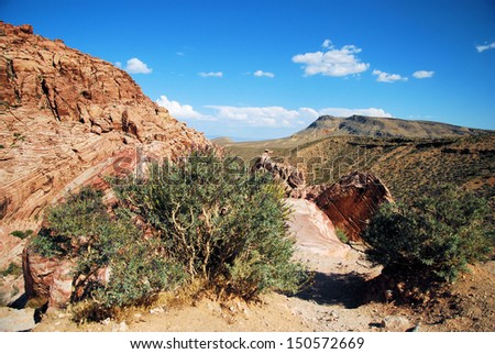Views from Red Rock Canyon, Nevada / Distant Lands - stock photo