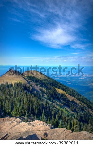 Views from the Deer Park area of Oylmpic National Park - stock photo