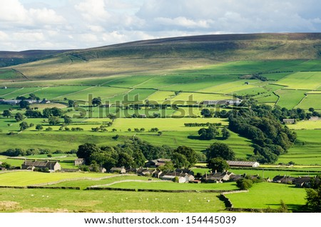 Views of Coverdale - stock photo