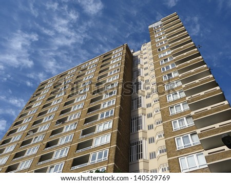 Views of flats within London - stock photo