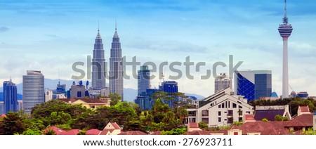 Views of Kuala Lumpur, Malaysia - stock photo