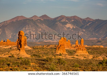 Views of the Arches National Park, Utah, USA - stock photo