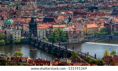 Views of the city, Prague - stock photo