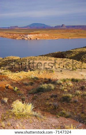 Views of the Grand Canyon on Colorado river in Arizona - stock photo