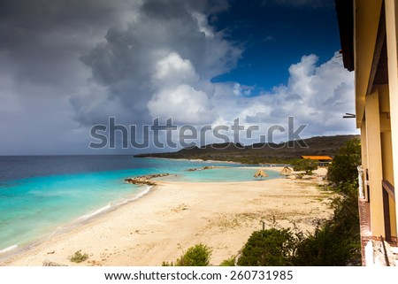 Views  on the Caribbean Island of Curacao Dutch Antilles - stock photo