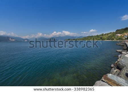 Views over Lake Maggiore from the village of Reno_Lake Maggiore_Italy