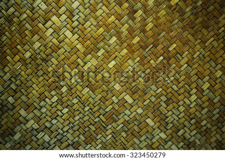 Vignette bamboo weave background. Old bamboo texture. Vintage bamboo background. Wood background. Bamboo craft texture. Wood craft texture. Basket background. Old basket background. Basket texture - stock photo