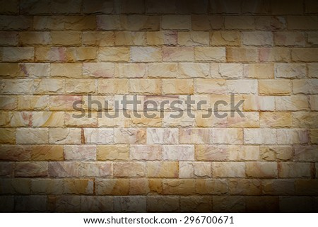 Vignette on vintage brick wall - stock photo