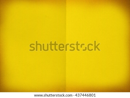 Vignette yellow paper texture background  - stock photo