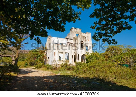 Vignetted ruins - stock photo