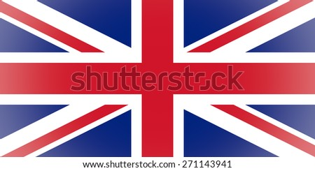 Vignetted UK flag of the United Kingdom aka Union Jack - stock photo