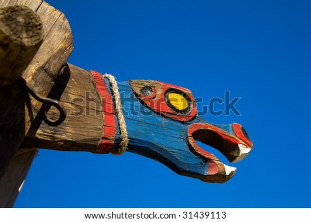 Viking dragon - stock photo
