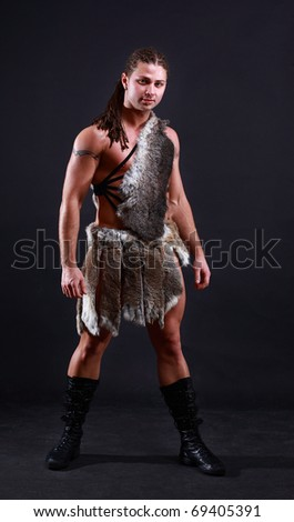 viking isolated over black background - stock photo