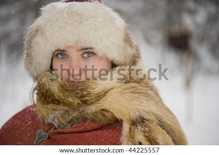 viking women - stock photo