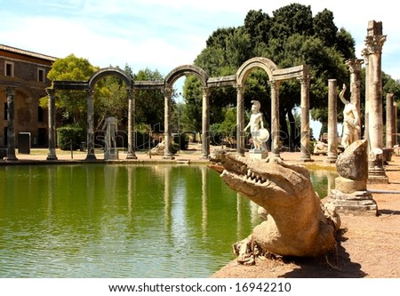 Villa Adriana near Rome - stock photo