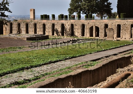 Villa Adriana, Tivoli, Lazio, Italy - stock photo